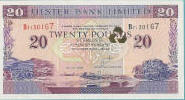 A £20 Ulster Bank banknote.