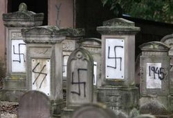 Defacement of a Jewish cemetery in France, .