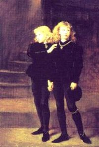 The Two Princes Edward and Richard in the Tower, 1483 by Sir ,