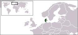 Location of Denmark