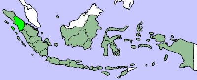 Map of North Sumatra province within Indonesia