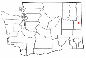 Location of Spokane, Washington