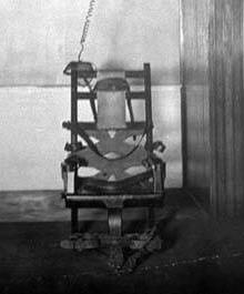 The first electric chair, which was used to execute William Kemmler in 1890