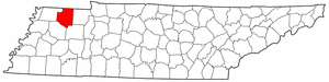 Image:Map of Tennessee highlighting Weakley County.png