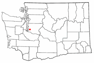 Location of Kent, Washington