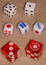European-style, Chinese, and casino dice.