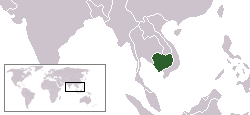 Location of Cambodia