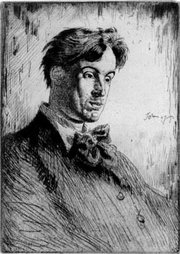 A 1907 engraving of Yeats.