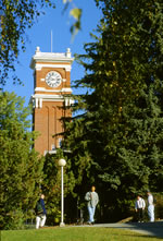 Bryan clock tower at Washington State University