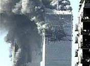 The World Trade Center on fire