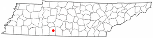 Location of Lawrenceburg, Tennessee