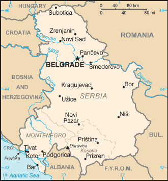 The Federal Republic of Yugoslavia consisted of Serbia and Montenegro.