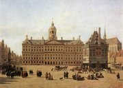 Dam Square in the late 17th century: painting by Jan Adriaensz. Berckheyde (Gemäldegalerie, Dresden)
