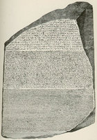 The Rosetta Stone solved a particularly difficult linguistic problem.