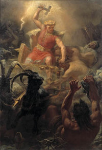 , god of thunder, one of the major figures in .