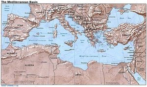 Map of the Mediterranean Sea