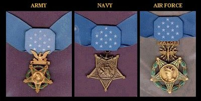 Three different United States Medals of Honor currently exist, one each for the Army, Navy, and Air Force.