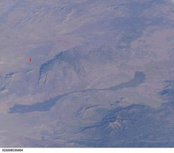 Trinity Site (red arrow) near