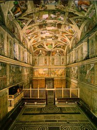 The interior of the Sistine Chapel