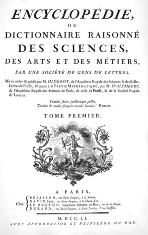 Fig.1: The cover of the Encyclopédie