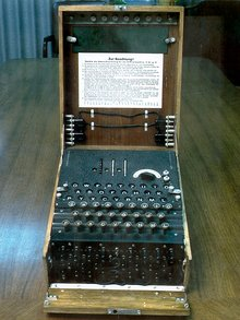 The Enigma machine was widely used by Nazi Germany; its cryptanalysis by Allied cryptographers provided vital  intelligence.