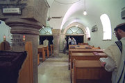 Interior of restored Ramban synagogue in Jerusalem today