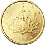Italian euro coin depicting Marcus Aurelius