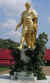 The above statue of Charles II stands in the Figure Court of the Royal Hospital Chelsea.