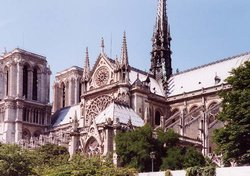 The cathedral , a significant architectural contribution of the High Middle Ages.