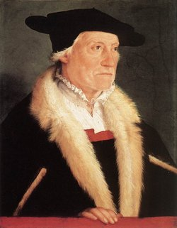 Portrait of Sebastian Münster by Christoph Amberger, c. 1552