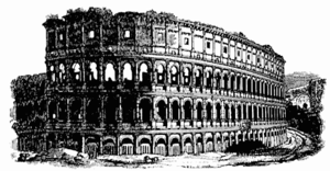 Drawing of the Colosseum