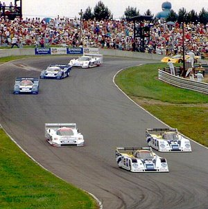 GTP sports cars racing at  in 1991