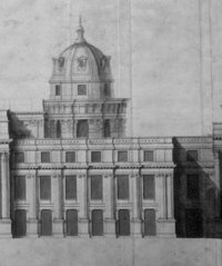 Part of a proposal for the replacement of the palace drawn by  in 1698. The palace was never rebuilt.
