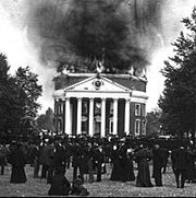 The Great Fire of 1895. Students and faculty mourn.