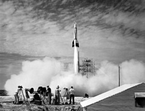 US test launch of a Bumper V-2.