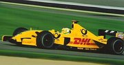 driving for the Jordan Grand Prix team at  in