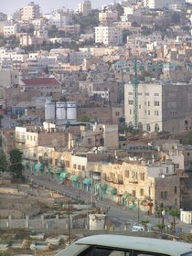 A recent view of the old city of Hebron
