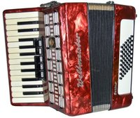a piano accordion