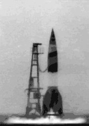 German V-2 test launch.