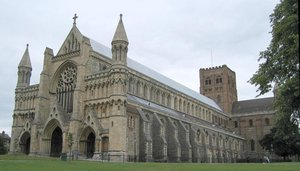 St Albans Cathedral from the west.