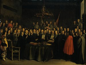 The Ratification of the Treaty of Münsterby  (1648)