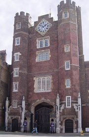 Main entrance of St. James's Palace, London