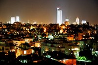 Tel Aviv at night