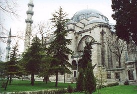 The  (Süleymaniye Camii) in  was built on the order of sultan  by the great  architect  in