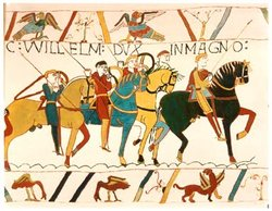 depicting the  during the Norman invasion of England