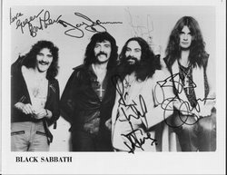From left to right, Bill Ward, Tony Iommi, Ozzy Osbourne, Geezer Butler