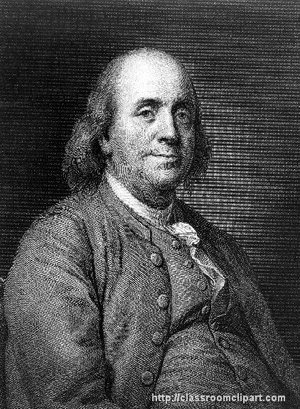Benjamin Franklin Image provided by Classroom Clip Art (http://classroomclipart.com)