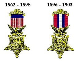 Early Army versions of the Medal of Honor.