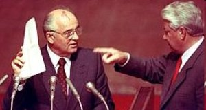 Gorbachev has accused Boris Yeltsin, his old rival and Russia's first post-Soviet president, of tearing the country apart out of a desire to advance his own personal interests.