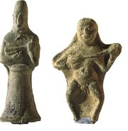 Figurines playing the ancestor of the Guitar. Excavated in Susa, . Dated 3rd Millennium BC.